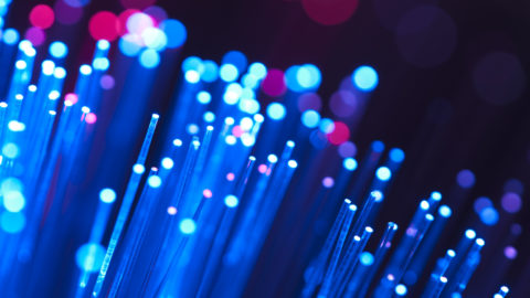 Blue and red fibre optical cables
